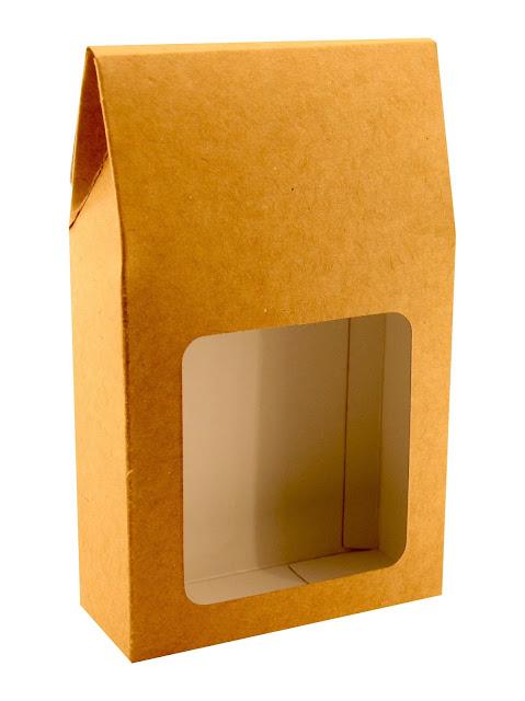Pudełko tekturowe podarunkowe z okienkiem na herbatę
