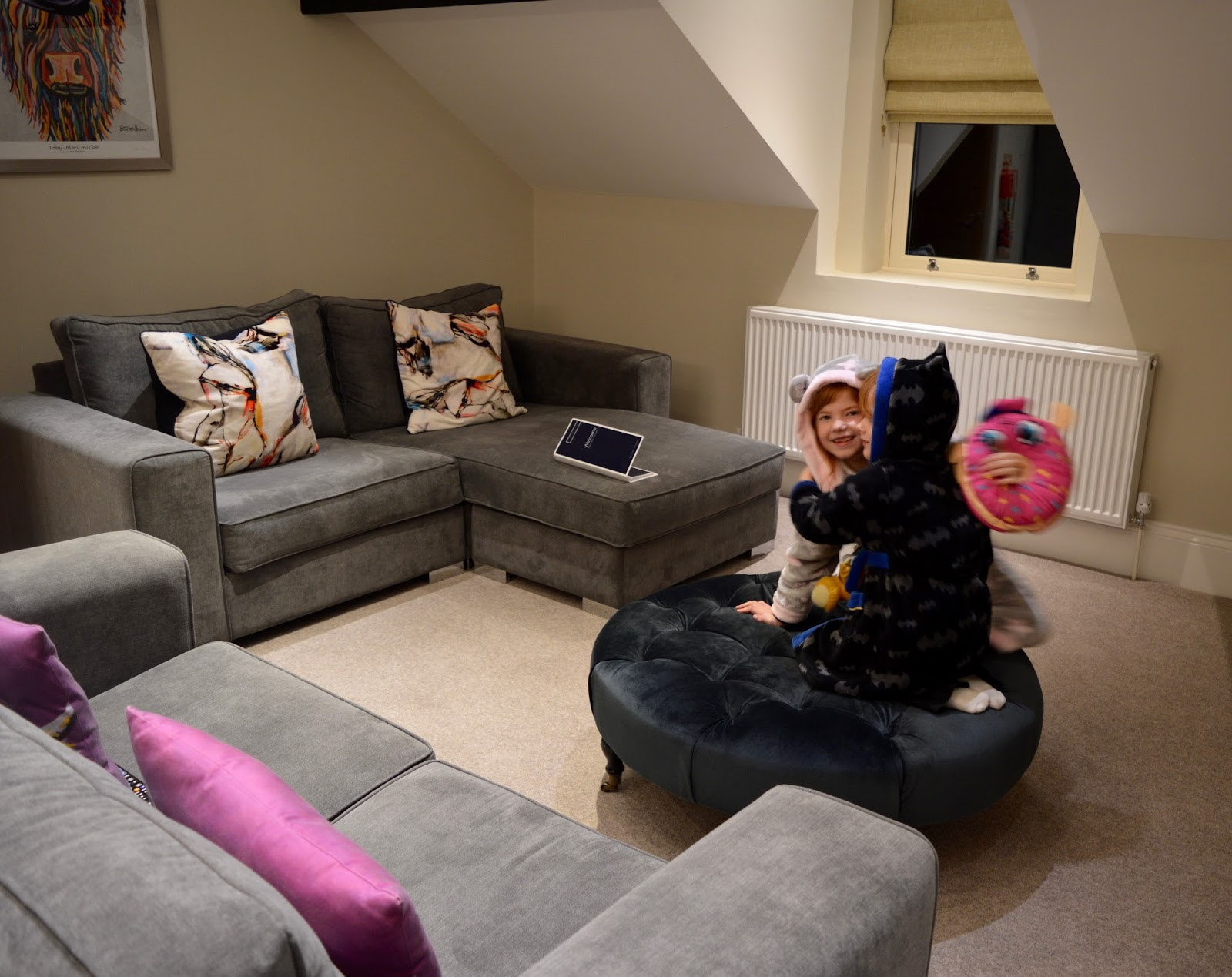 48 Hours in Harrogate with Kids | Harrogate Serviced Apartments Review - St George's Five Living Area