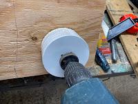 Cutting a hole