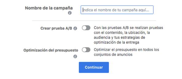 Escoger y configurar tu anuncio Facebook - MasFB