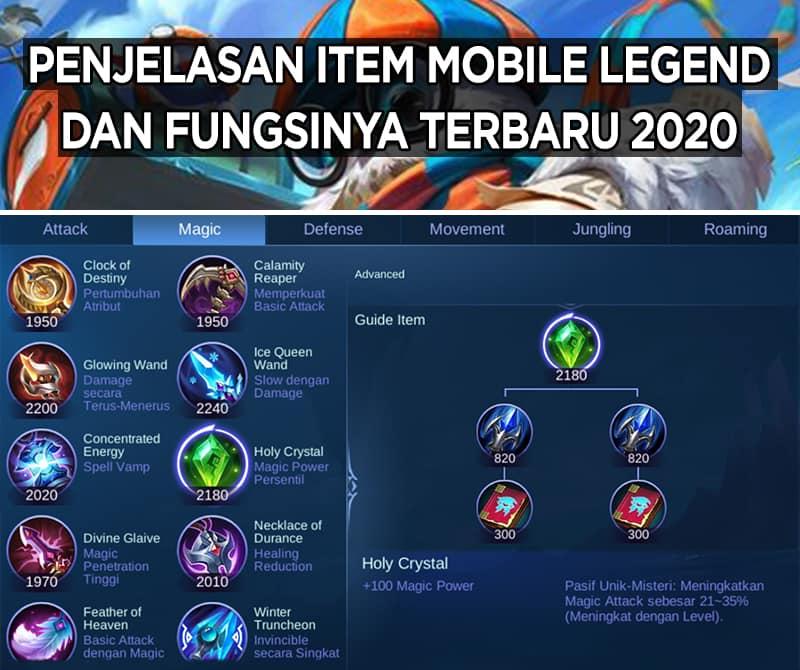Item Mobile Legend dan Fungsinya