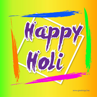 Happy Holi Colorful greetings image
