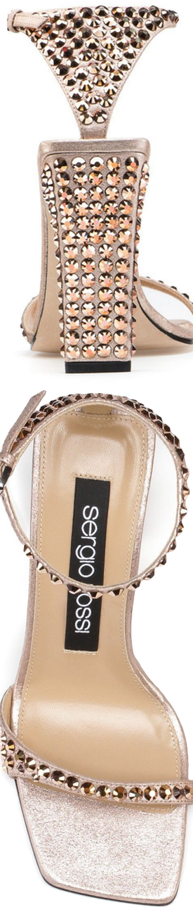 SERGIO ROSSI  Studded Sandals shown in Pink