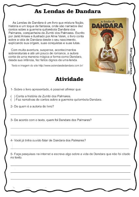 Atividade Cultura Afro Dandara dos Palmares