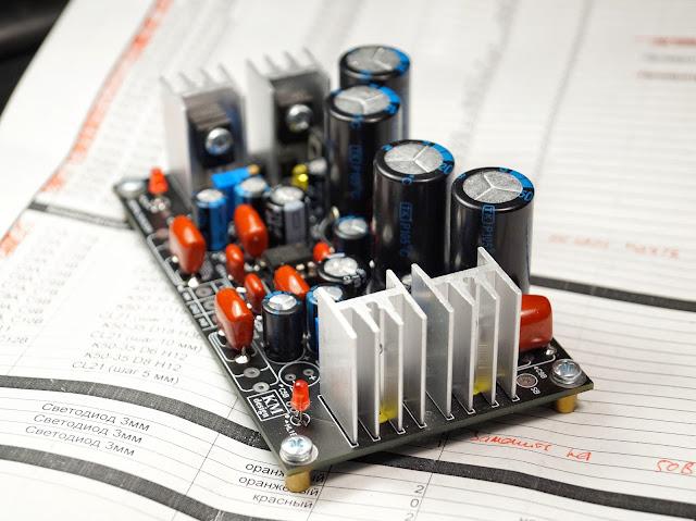 Собранный набор усилителя на OPA2134. Выходной усилительный модуль гибридного усилителя для наушников.