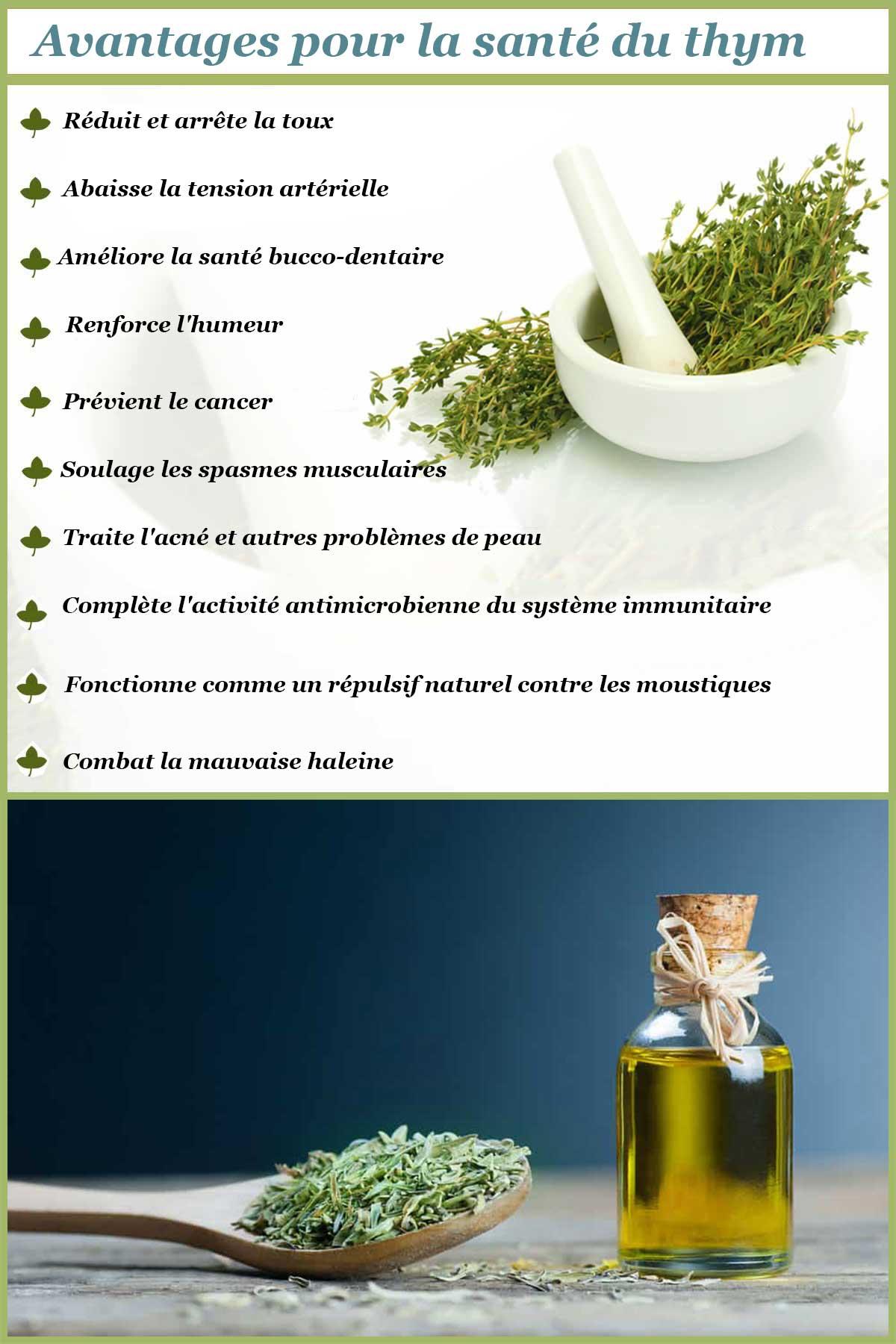 Avantages pour la santé du thym