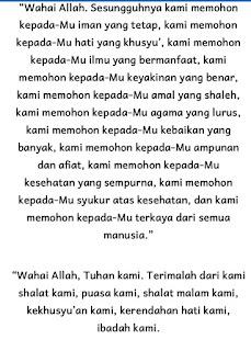 Doa Sholat witir terjemahan bahasa Indonesia
