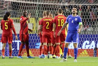 ΓΙΩΡΓΟΣ ΜΕΡΚΗΣ, μετά τη βαριά ήττα με 6-1 από το Βέλγιο