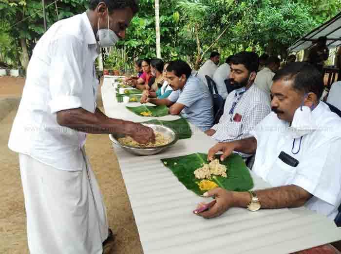 Panchayat member Abdul Khader made Puthari Sadya the result of his work