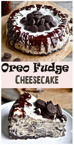 Best Oreo Fudge Cheesecake