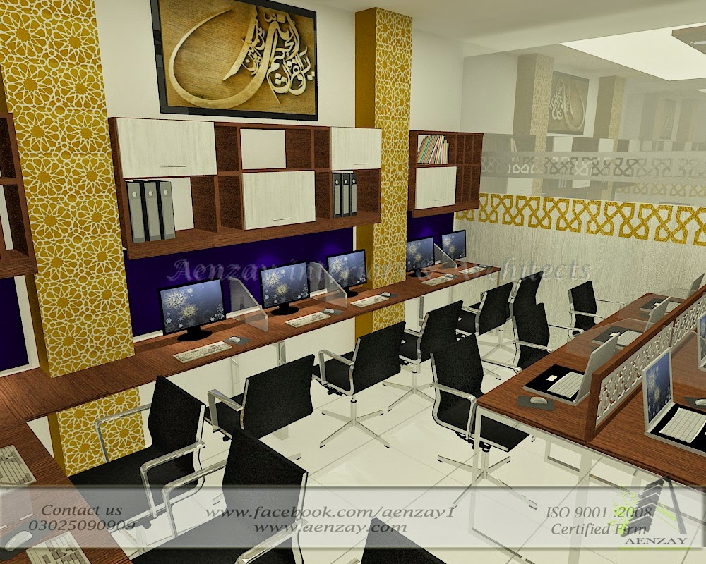 Aenzay Interiors & Architects: production staff area designed by