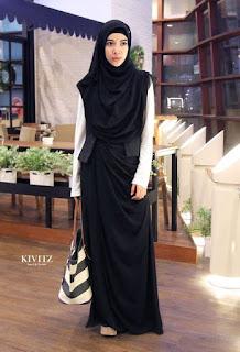 Contoh Dress Muslimah Hitam
