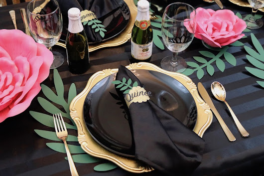 LAURA'S little PARTY: DIY napkin rings with Cricut Explore Air 2