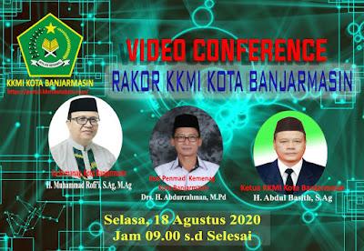 Rakor KKMI Kota Banjarmasin Via E-Learning Madrasah - 18 Agustus 2020