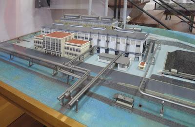 Museo de Historia de Avilés. Maquetas e historia de ENSIDESA. Central Térmica