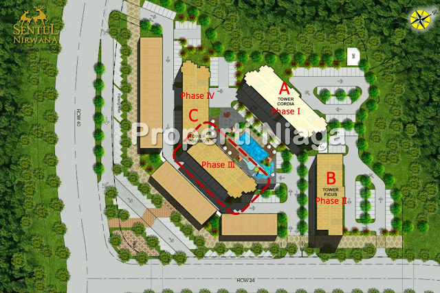 Site-Plan-Hillside-Apartment-Tower-Cinnamon-Sentul-Nirwana