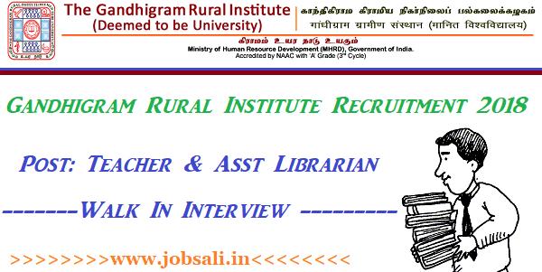 Govt Jobs in Tamilnadu, Teaching Jobs