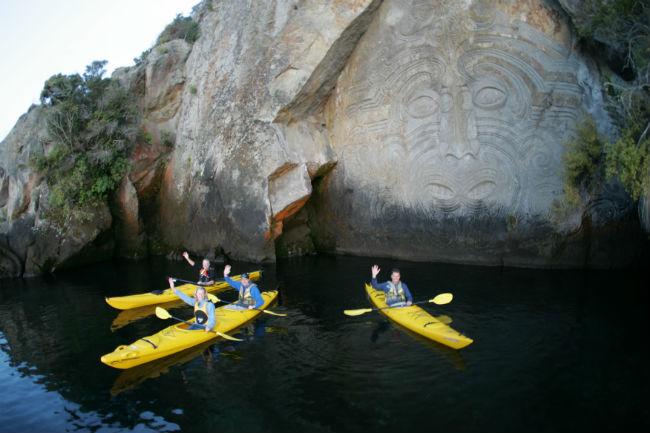 Ngatoroirangi Mine Bay Rock Carving Lake Taupo