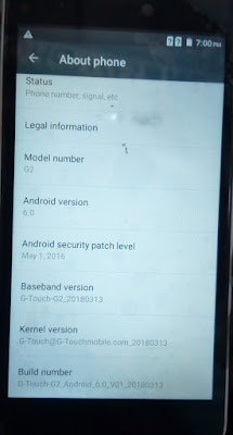 G TOUCH G2 MITO-A880 SP7731 ANDROID 6.0 FIRMWARE
