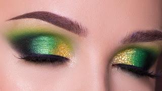 مكياج العيون الخضراء للعروس: