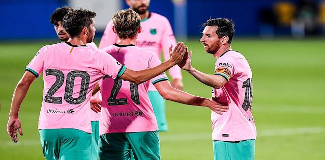 ميسي يتألق في فوز برشلونة على جيرونا بثلاثية