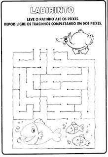 Atividade alfabetização labirinto