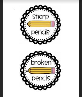 Pencil Cup Labels {Freebie}