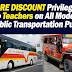 Transportation Fare Discount for Teachers