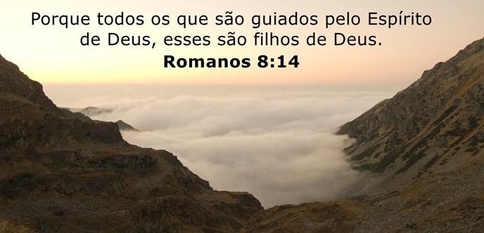 Porque todos os que são guiados pelo Espírito de Deus, esses são filhos de Deus.