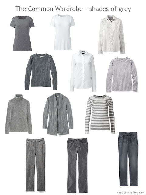 A Common Wardrobe in shades of grey