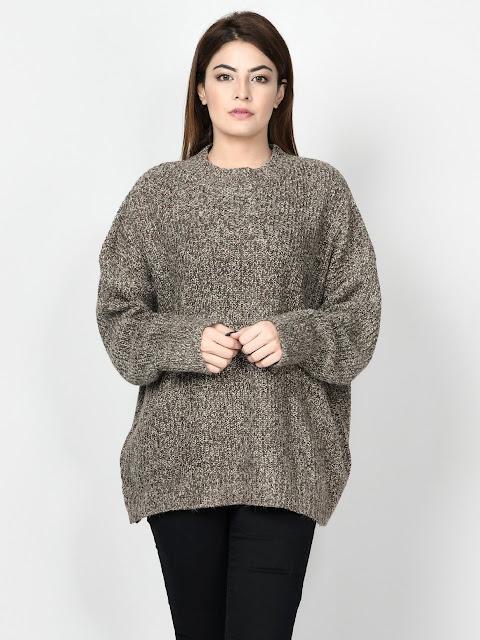 Limelight copper color sweaters for women winter wear