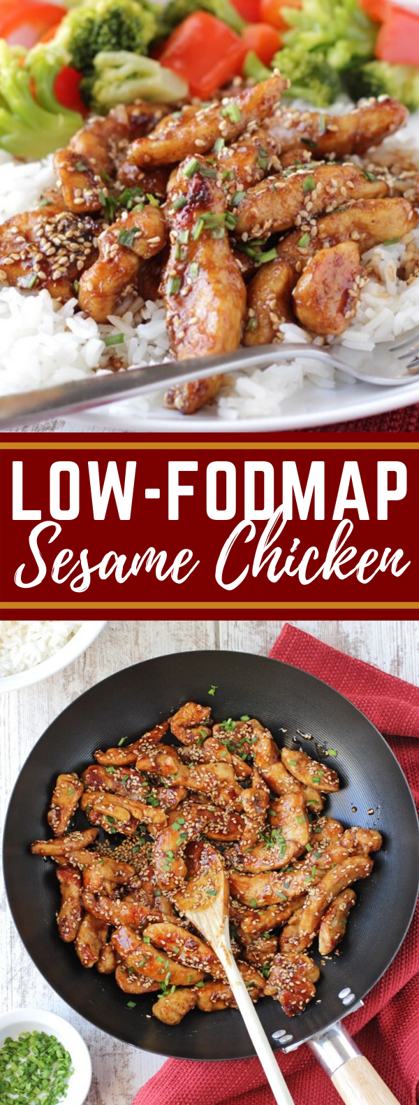 Low-FODMAP Sesame Chicken #healthy #glutenfree