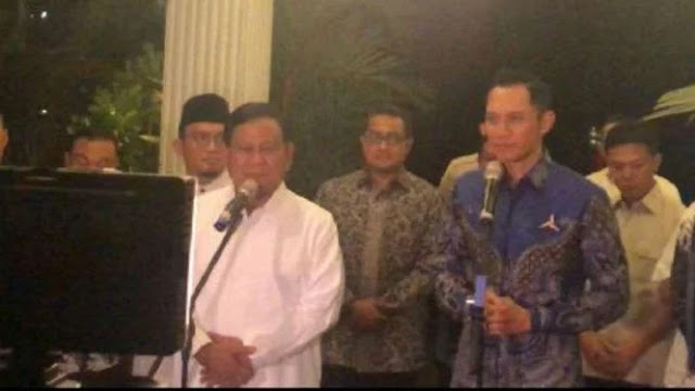 Bertemu AHY, Prabowo Yakin Menang