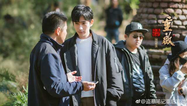 The Lost Tomb filming Zhu Yilong