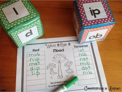 Short Vowel Activities Roll On set and rimes