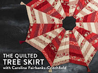 Learn how to make a cute quilted Christmas tree skirt. And get tons of useful little quilting tips from Craftsy instructor Caroline Fairbanks-Critchfield.