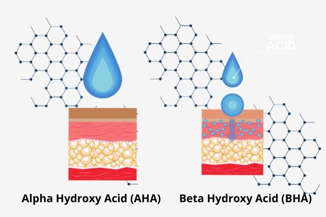 exfoliasi aha dan bha pada kulit