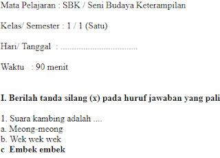 Soal-UAS-UKK-SBK-Seni-Budaya-kelas-1-SD-Semester-1