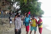 Polisi Imbau Untuk Hati-hati Karena Cuaca Ekstrim di Pantai Carita