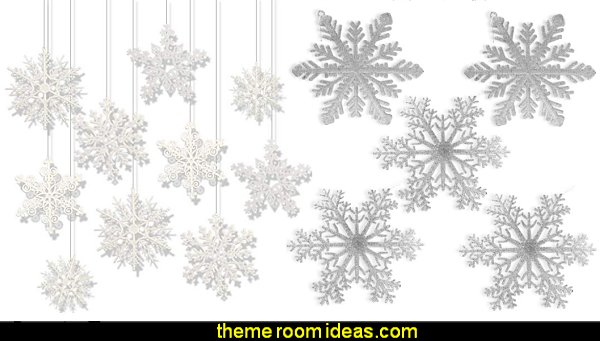 winter wonderland bedroom snowflake ornaments hanging snowflake ornaments