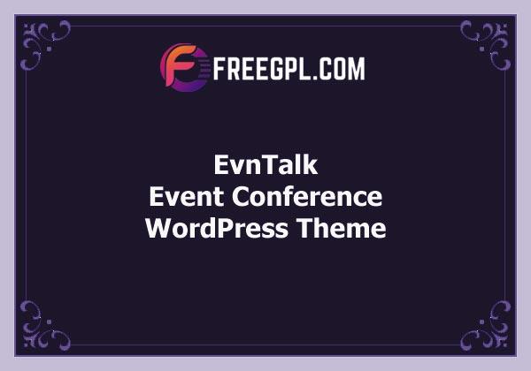 EvnTalk - Event Conference WordPress Theme Free Download