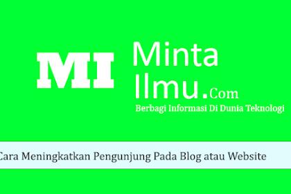 Cara Meningkatkan Pengunjung dan Visitor Pada Blog atau Website