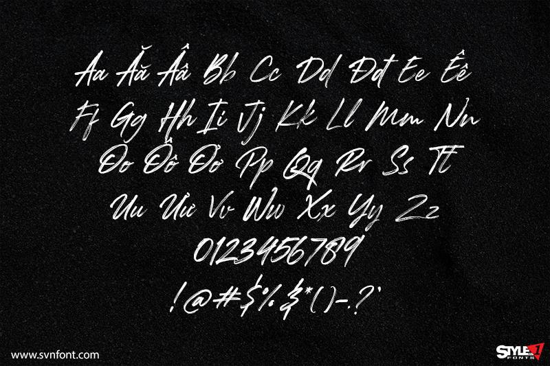 SVN-Rockness font - Kiểu chữ phong cách viết tay