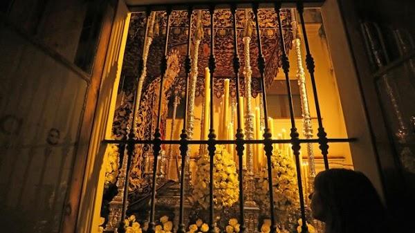 El palio de la Encarnación estará en la exposición de las cofradías de Jerez