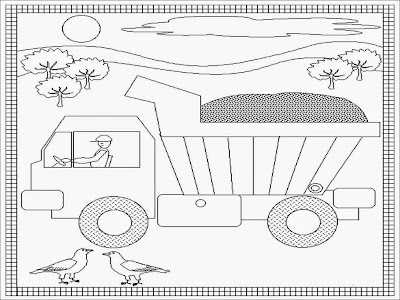dump truck coloring pages print