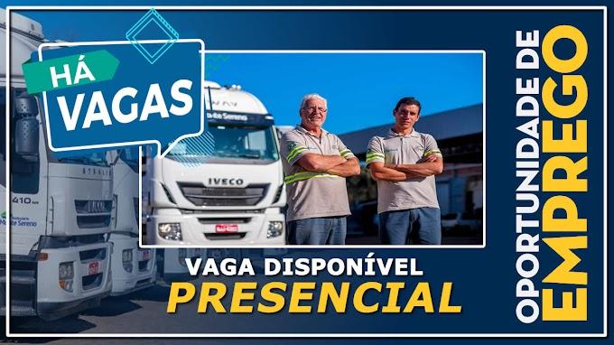 VAGA PARA MOTORISTA COM ENTREVISTA PRESENCIAL