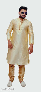 Silk Kurta Pyjama Set
