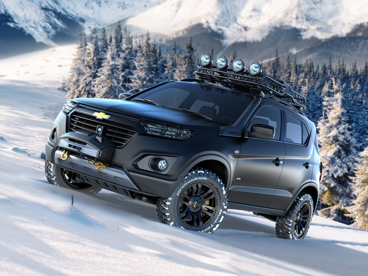 Chevrolet's New Niva SUV Concept Steps Out of the Shadows ...