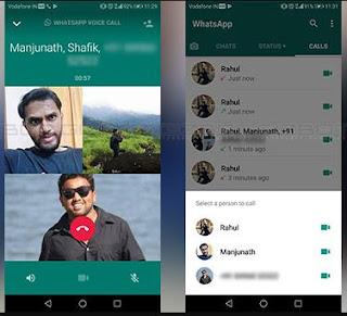 Whatsapp Group Call Interface