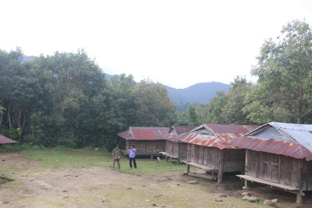 Một khu vực nhà lúa của bà con làng Bung Tôn, xã Đăk Blô